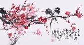 【已售】花鸟名家李刚国画梅花《喜上眉梢》
