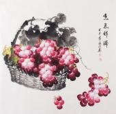 【已售】张利四尺国画葡萄《喜气祥瑞》