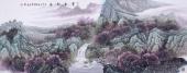 广西美协欧阳 小六尺写意山水《草本知春》