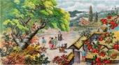 【已售】朝鲜一级艺术家李银光民俗画《故乡》