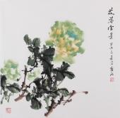 【已售】赵敏四尺斗方国画牡丹《花开富贵》