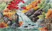 朝鲜一级艺术家李银光三尺山水《溪谷的春天》