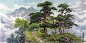 【已售】朝鲜人民艺术家崔成龙《三园洞的风景》