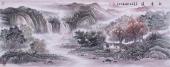 【已售】客厅风水画 欧阳小六尺山水画作品《秋意浓》