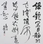 安徽美协胡秋声 草书作品《绿艳闲且静 红衣浅复深》