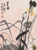 【询价】名家冯志光四尺竖幅荷花《晨曲》