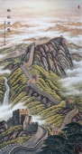 广西美协欧阳精品大六尺竖幅长城《雄风万里》