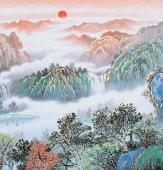 《林泉高致》欧阳精品六尺横幅山水画
