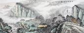 北京美协周升寅六尺山水画《白云深处有人家》