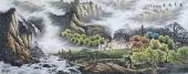 风景山水 周升寅写意六尺山水画《万里无尘》