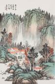 实力派山水名家曲胜利小尺寸山水画《溪山三月青翠图》