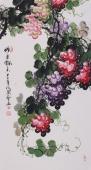 花鸟名家黄艺 三尺国画葡萄《硕果飘香》