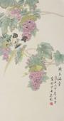 【已售】北京美协凌雪工笔花鸟画《珠玉满堂》