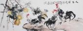 客厅字画 石云轩写意小六尺横幅葫芦图《大吉图》