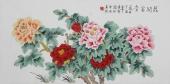 北京美协凌雪三尺横幅工笔花鸟画《花开富贵》