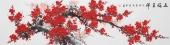 广西美协周翁弟六尺对开梅花《五福呈祥》
