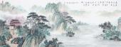 广西美协会员欧阳小六尺横幅小写意山水