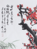 花鸟名家石云轩四尺竖幅梅花