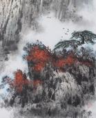 著名山水名家杨秀亮四尺竖幅山水《黄山秋色》