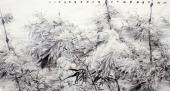 【询价】一级美术师李成林大六尺冰雪画《冰肌玉骨风雪满》