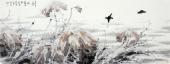 【询价】一级美术师李成林六尺横福冰雪画《来年又是一池香》