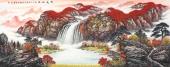 广西山水名家张哲礼六尺写意国画《源远流长》