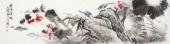 河北美协王学增 写意花鸟六尺对开《荷塘情趣》