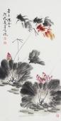 河北美协王学增 三尺写意花鸟《金玉满堂》