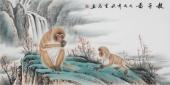安徽美协云志四尺工笔动物画《教子图》