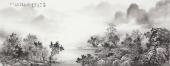 云浩 写意水墨山水《绿源不可及远树可青葱》广西美术家协会会员