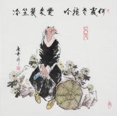 张春奇 写意斗方《何处老龙吟》 徐悲鸿纪念馆艺术中心理事