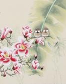 北京美协凌雪四尺斗方工笔画《春花烂漫》