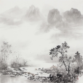 云浩 写意水墨山水画 广西美术家协会会员