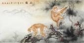 云志 四尺动物画《和睦》 安徽美术家协会会员