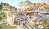 朝鲜一级艺术家李永福写意民俗画《晴明》