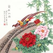 北京中央美院凌雪四尺斗方工笔画《前程似锦》