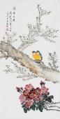 北京中央美院凌雪三尺竖幅工笔画《清香久远》