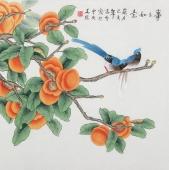北京中央美院凌雪四尺斗方工笔画《事事如意》