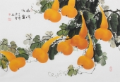 广西美协黄艺横幅写意国画葫芦《福禄满堂》
