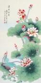 北京中央美院凌雪四尺竖幅工笔画《清香溢远》