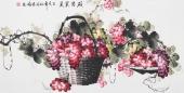 赵君梅四尺横幅国画葡萄《硕果累累》
