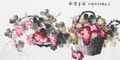 赵君梅四尺横幅国画葡萄《秋实》